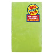 Amscan Big Party Pack Guest Towel, 2-Ply, Kiwi, 6/Pack, 40 Per Pack (63215.53)
