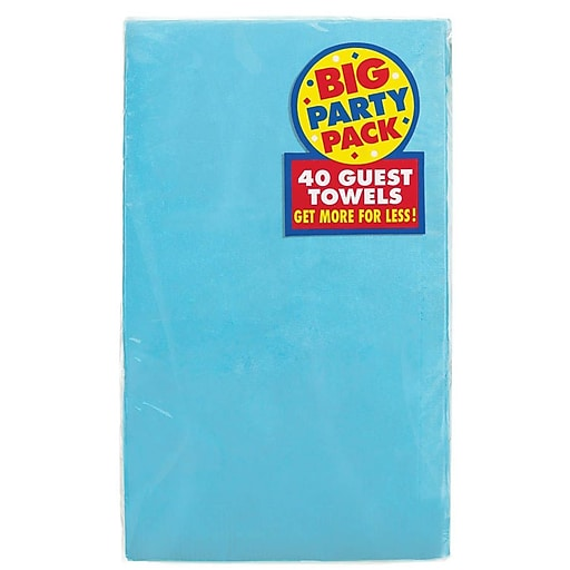 Amscan Big Party Pack Guest Towel, 2-Ply, Carribbean, 6/Pack, 40 Per Pack