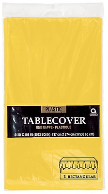 """""""""""Amscan 54"""""""""""""""" x 108"""""""""""""""" Sunshine Plastic Tablecover, 12/Pack (77015.09)"""""""""""" 1970119"""