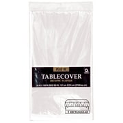 "Amscan 54"" x 108"" Clear Plastic Tablecover, 12/Pack (77015.86)"