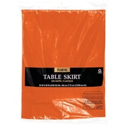 """Amscan Plastic Tableskirt, 14' x 29"""", Orange, 4/Pack (77025.05)"""