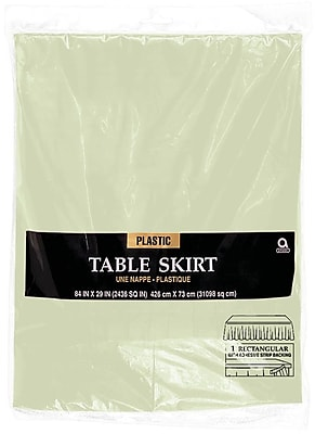 Amscan Plastic Tableskirt, 14' x 29