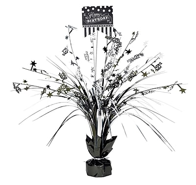Amscan Black and White Spray Centerpiece, 18