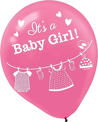 Amscan Shower With Love Girl Latex Balloons; 12