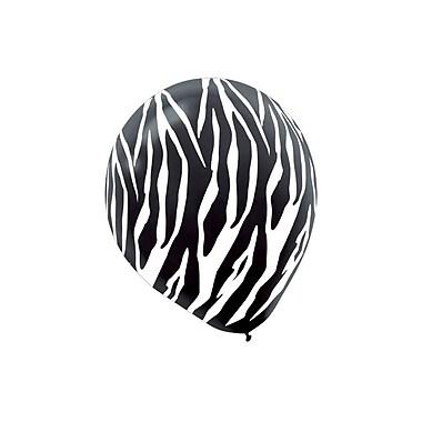 Amscan Zebra Latex Balloons, 12