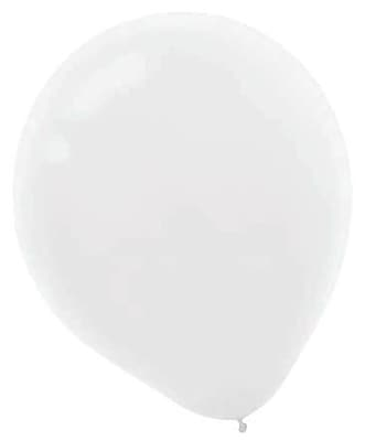 Amscan Packaged Solid Color Latex Balloons, 12'', White, 4/Pack, 72 Per Pack (113250.08)