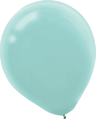 Amscan Solid Color Latex Balloons Packaged, 12'', Robin's Egg Blue, 4/Pack, 72 Per Pack (113250.121)