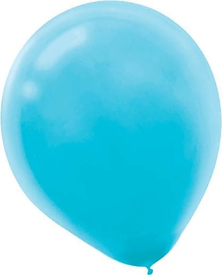 Amscan Solid Color Latex Balloons Packaged, 12'', 4/Pack, Caribbean Blue, 72 Per Pack (113250.54)