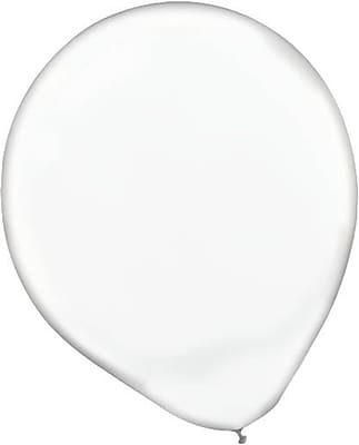 Amscan Solid Color Latex Balloons Packaged, 12'', 4/Pack, Clear, 72 Per Pack (113250.86)