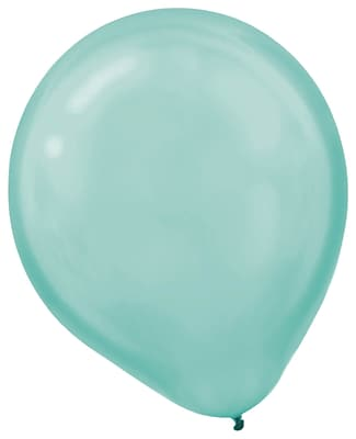 Amscan Pearlized Latex Balloons Packaged, 12'', 3/Pack, Robin's Egg Blue, 72 Per Pack (113251.121)