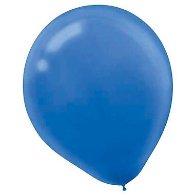 Amscan Solid Color Packaged Latex Balloons, 12'', Bright Royal Blue, 18/Pack, 15 Per Pack (113252.105)
