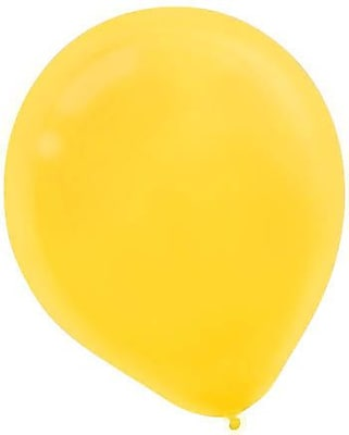 Amscan Solid Color Latex Balloons Packaged, 9'', 18/Pack, Yellow Sunshine, 20 Per Pack (113255.09)