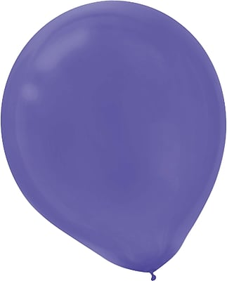 Amscan Solid Color Latex Balloons Packaged, 9'', 18/Pack, New Purple, 20 Per Pack (113255.106)