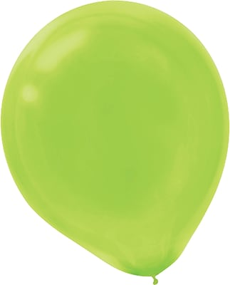 Amscan Solid Color Latex Balloons Packaged, 9'', 18/Pack, Kiwi, 20 Per Pack (113255.53)
