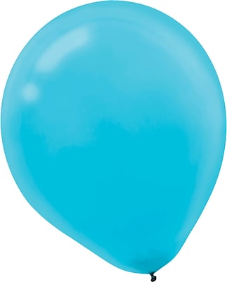 Amscan Solid Color Latex Balloons Packaged, 9'', 18/Pack, Caribbean Blue, 20 Per Pack (113255.54)