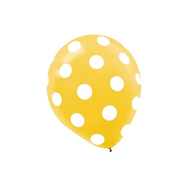 Amscan Primary Colored Dots Latex Balloons, 12'', 3/Pack, Assorted, 20 Per Pack (115496)