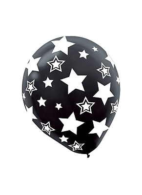 Amscan Stars Latex Balloons, 12'', 3/Pack, Assorted,