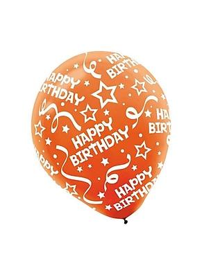 Amscan Birthday Confetti Latex Balloons, 12'', 3/Pack,