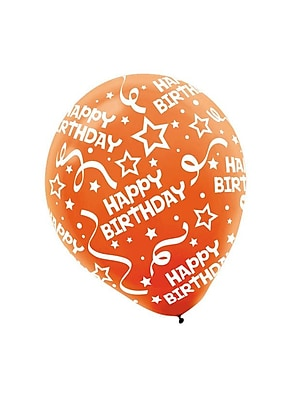 Amscan Birthday Confetti Latex Balloons, 12'', 3/Pack, Bright Assorted, 20 Per Pack (115503)