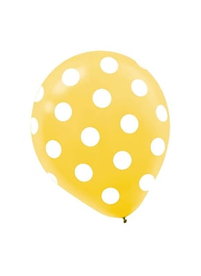 Amscan Polka Dot Latex Balloons, 12'', 9/Pack,