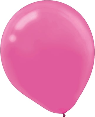 Amscan Solid Color Latex Balloons Packaged, 5'', Bright Pink, 6/Pack, 50 Per Pack (115920.103)