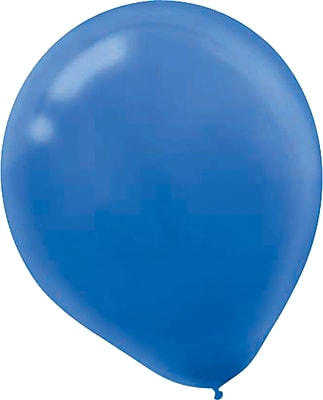 Amscan Solid Color Latex Balloons Packaged, 5'', Bright Royal Blue, 6/Pack, 50 Per Pack (115920.105)