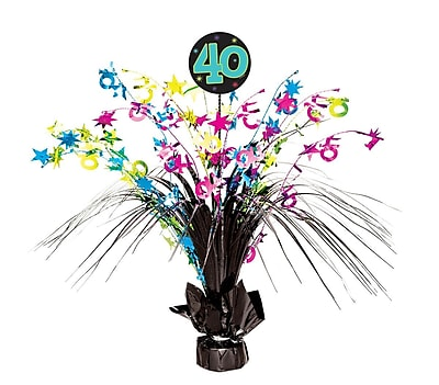 Amscan The Party Continues Spray Centerpiece - 40, 4/Pack (116351)