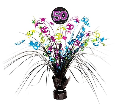 Amscan The Party Continues Spray Centerpiece - 50, 4/Pack (116532)