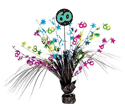 Amscan The Party Continues Spray Centerpiece - 60, 4/Pack (116536)