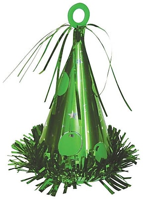 Amscan Party Hat Balloon Weight; 6oz, Green, 9/Pack (117695.03)