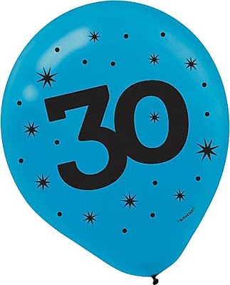 Amscan Printed Latex Balloons 30; 12'', Assorted