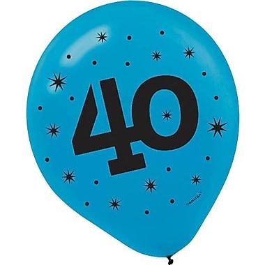 Amscan Printed Latex Balloons - 40, 12