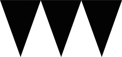 Amscan Paper Pennant Banner, 15', Jet Black, 6/Pack (120099.10)