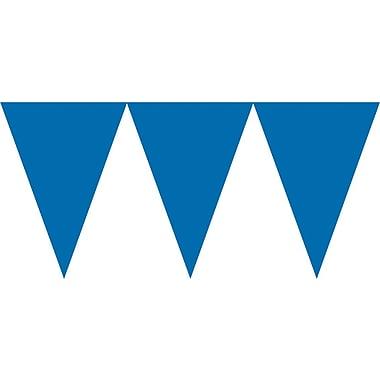 Amscan Paper Pennant Banner, 15', Royal Blue, 6/Pack (120099.105)
