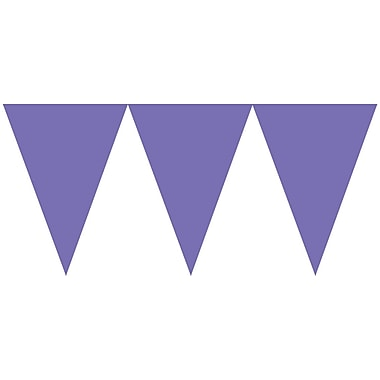 Amscan Paper Pennant Banner, 15', New Purple, 6/Pack (120099.106)