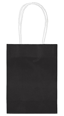 Amscan Kraft Paper Bag, 5.125'', Black, 48/Pack (160059.10)