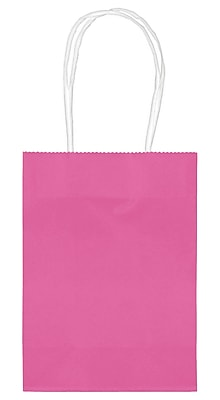 Amscan Kraft Paper Bag, 5.125'', Bright Pink, 48/Pack (160059.103)