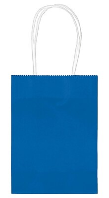 Amscan Kraft Paper Bag, 5.125'', Bright Royal