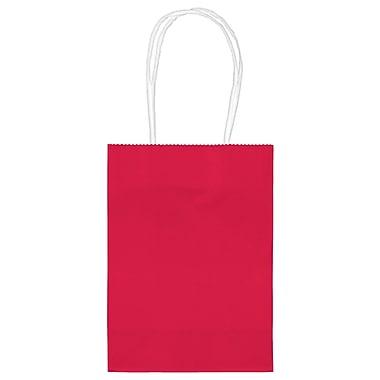 Amscan Kraft Paper Bag, 5.125'', Apple Red, 48/Pack (160059.40)