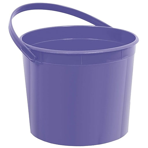 Amscan Plastic Bucket, 6.25''W, Purple, 12/Pack (268902.106)