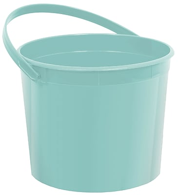 Amscan Plastic Bucket, 6.25'', Robin's Egg Blue, 12/Pack (268902.121) 1971009