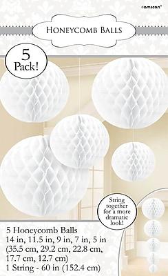 Amscan Honeycomb Ball Decorating Kit, White, 2/Pack, 5 Per Pack (299255.08)