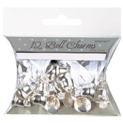 "Amscan Double Bell Charms, 0.5"", Silver, 5/Pack, 12 Per Pack (340294)"