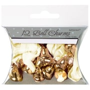 Amscan Double Bell Charms, 0.5'', Gold, 5/Pack, 12 Per Pack (340295)