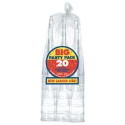 Amscan Clear Champagne Flutes, 2/Pack, 20 Per Pack (350103.86)