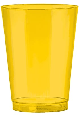 Amscan 10oz Yellow Sunsine Big Party Pack Plastic Cups, 2/Pack, 72 Per Pack (350363.09)