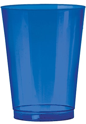 Amscan Big Party Pack 10oz Bright Royal Blue Plastic Cups, 2/Pack, 72 Per Pack (350363.105) 1970899