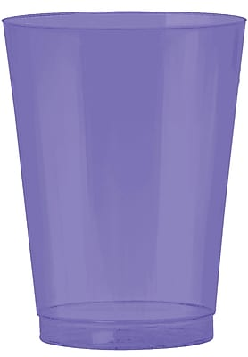 Amscan Big Party Pack 10oz Purple Plastic Cups, 2/Pack, 72 Per Pack (350363.106) 1970898