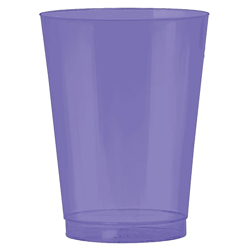 Amscan Big Party Pack 10oz Purple Plastic Cups, 2/Pack, 72 Per Pack (350363.106)
