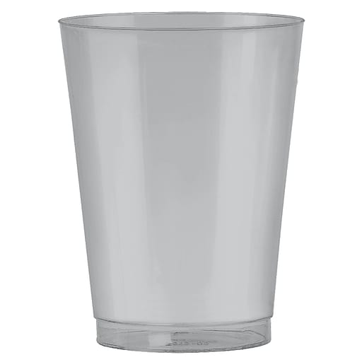 Amscan 10oz Silver Big Party Pack Plastic Cups, 2/Pack, 72 Per Pack (350363.18)